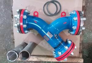 Фильтр У-образный DN150 PN40 с ЗИП (прокладки и картриджи)