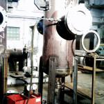 Гидроиспытания фильтра Ду300 с бугельной быстросъемной крышкой Ду600
