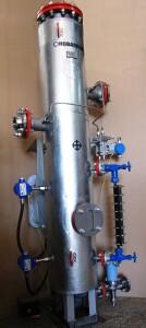 """Фильтр-сепаратор DN80, нерж.сталь, с автономным сливом в теплоизоляции с эл/обогревом. Пивзавод """"Балтика"""""""