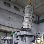 Установка фильтрующего картриджа в нефтяной фильтр с концевым затвором DN1000 PN16