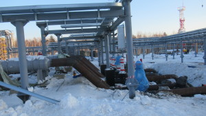 Монтаж фильтр-грязеуловителей на площадке ПСП Комсомольского НПЗ, ПАО «НК «Роснефть»