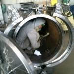 Подготовка к окраске внутренней полости корпуса фильтра грязеуловителя