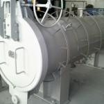 Горизонтальный фильтр грязеуловитель с быстрооткрывающимся затвором
