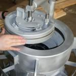 Секторная крышка фильтра жидкостного Ду400