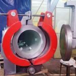 Концевой затвор хомутовый Ду600 Ру63 для фильтра-грязеуловителя НПЗ Комсомольский