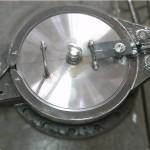 Рабочее фото затвора концевого на фланце на замену фланцевой заглушки DN350 PN16